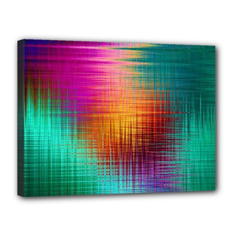 Colourful Weave Background Canvas 16  x 12