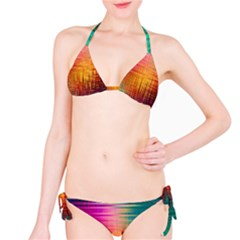 Colourful Weave Background Bikini Set