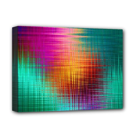 Colourful Weave Background Deluxe Canvas 16  x 12