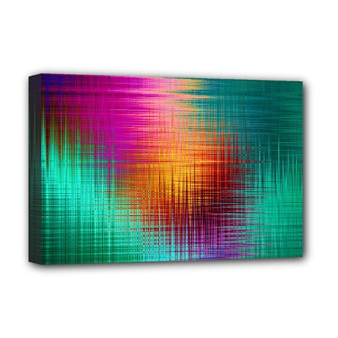 Colourful Weave Background Deluxe Canvas 18  x 12