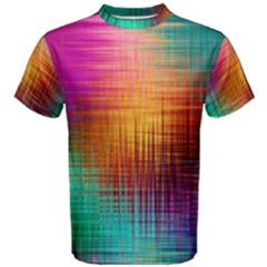 Colourful Weave Background Men s Cotton Tee