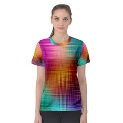 Colourful Weave Background Women s Sport Mesh Tee