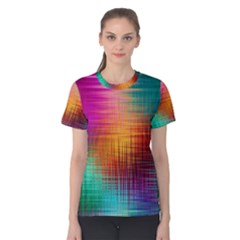 Colourful Weave Background Women s Cotton Tee