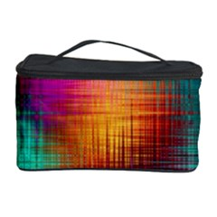 Colourful Weave Background Cosmetic Storage Case