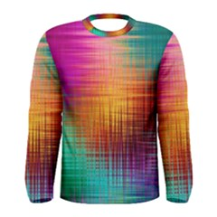 Colourful Weave Background Men s Long Sleeve Tee