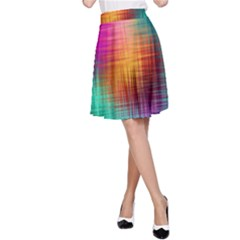 Colourful Weave Background A-Line Skirt