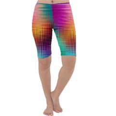 Colourful Weave Background Cropped Leggings
