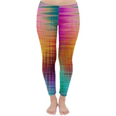 Colourful Weave Background Classic Winter Leggings