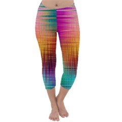 Colourful Weave Background Capri Winter Leggings