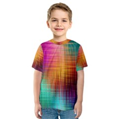 Colourful Weave Background Kids  Sport Mesh Tee