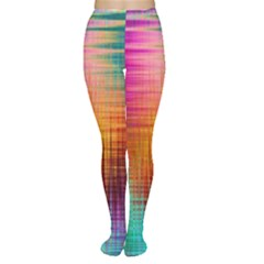 Colourful Weave Background Women s Tights