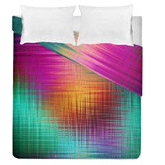 Colourful Weave Background Duvet Cover Double Side (queen Size)