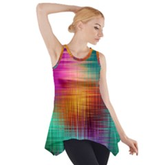 Colourful Weave Background Side Drop Tank Tunic