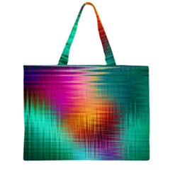 Colourful Weave Background Large Tote Bag