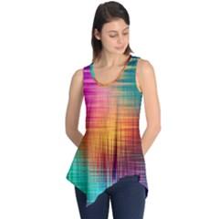 Colourful Weave Background Sleeveless Tunic