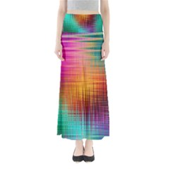 Colourful Weave Background Maxi Skirts