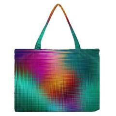 Colourful Weave Background Medium Zipper Tote Bag
