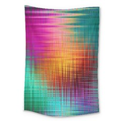 Colourful Weave Background Large Tapestry