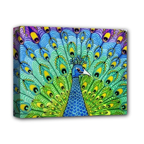 Peacock Bird Animation Deluxe Canvas 14  x 11