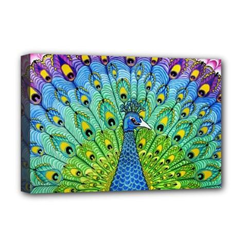 Peacock Bird Animation Deluxe Canvas 18  x 12