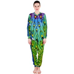 Peacock Bird Animation OnePiece Jumpsuit (Ladies)