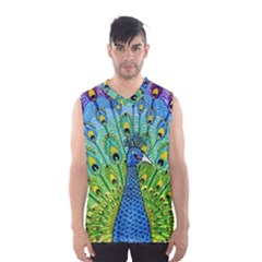 Peacock Bird Animation Men s Basketball Tank Top