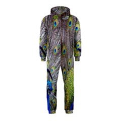 Peacock Bird Feathers Hooded Jumpsuit (Kids)