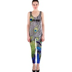 Peacock Bird Feathers Onepiece Catsuit