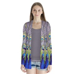 Peacock Bird Feathers Cardigans