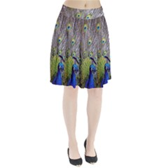 Peacock Bird Feathers Pleated Skirt
