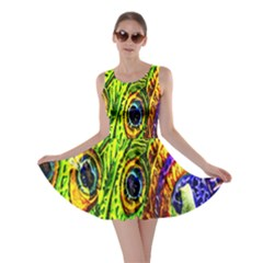 Peacock Feathers Skater Dress