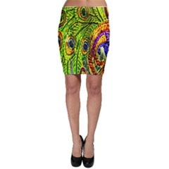 Peacock Feathers Bodycon Skirt
