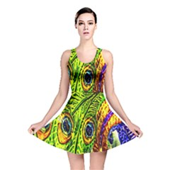 Peacock Feathers Reversible Skater Dress