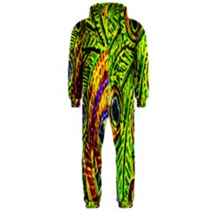 Peacock Feathers Hooded Jumpsuit (Men)