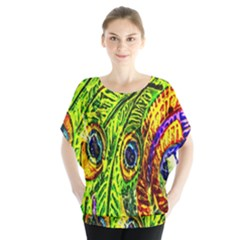 Peacock Feathers Blouse