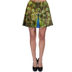 Peacock Bird Skater Skirt