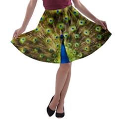 Peacock Bird A-line Skater Skirt