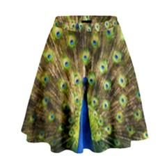Peacock Bird High Waist Skirt
