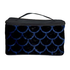 Scales1 Black Marble & Blue Stone Cosmetic Storage Case
