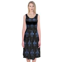RYL1 BK-MRBL BL-STONE (R) Midi Sleeveless Dress