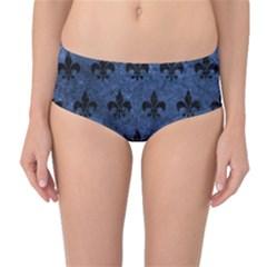 RYL1 BK-MRBL BL-STONE Mid-Waist Bikini Bottoms