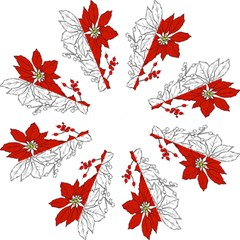 Poinsettia Flower Coloring Page Folding Umbrellas