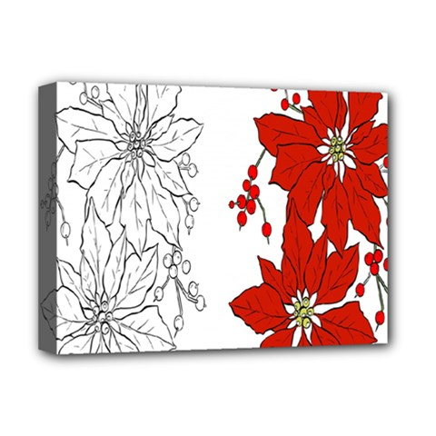 Poinsettia Flower Coloring Page Deluxe Canvas 16  x 12