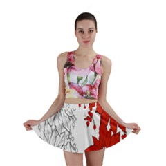Poinsettia Flower Coloring Page Mini Skirt