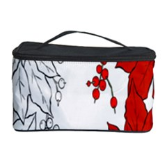 Poinsettia Flower Coloring Page Cosmetic Storage Case