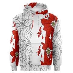 Poinsettia Flower Coloring Page Men s Pullover Hoodie