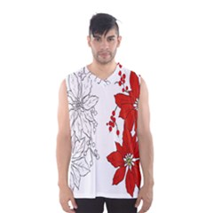 Poinsettia Flower Coloring Page Men s Basketball Tank Top