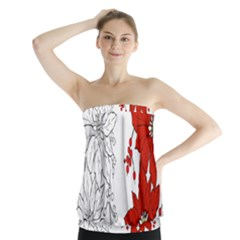 Poinsettia Flower Coloring Page Strapless Top