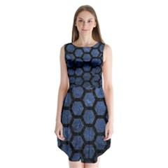 HXG2 BK-MRBL BL-STONE (R) Sleeveless Chiffon Dress