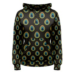 Peacock Inspired Background Women s Pullover Hoodie